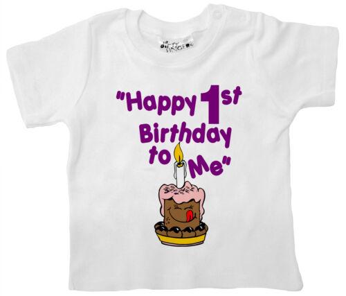 """Geburtstag T-Shirt /"""" Froh 1 To Me /"""" Erste 1 Jahr Geschenk Party Kleidung 1"""