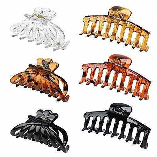 Nice 6 Pieces Large Hair Claw Clips Soft And Light