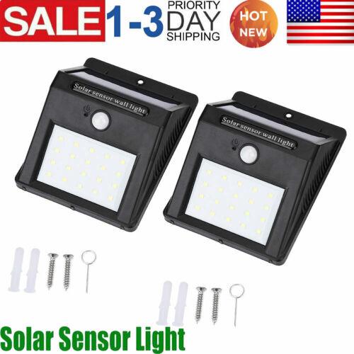 2pcs 20LED Security Detector Solar Spot Lights Motion Sensor Outdoor Garden Path