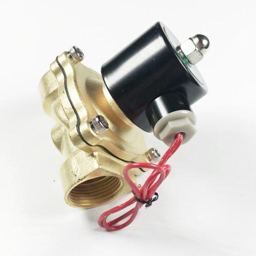 220V gas válvula de solenoide eléctrico neumático de aire 2-way 32mm hilo Cerrada Normal