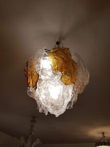 Lampadario-chandelier-con-foglie-in-vetro-di-Murano-di-Mazzega-anni-60-039-70