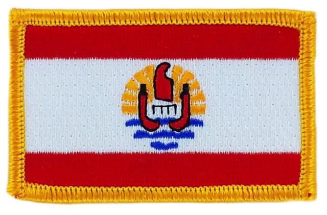 Patch toppa ricamata Bandiera POLINESIA Termoadesivo Distintivo Emblema