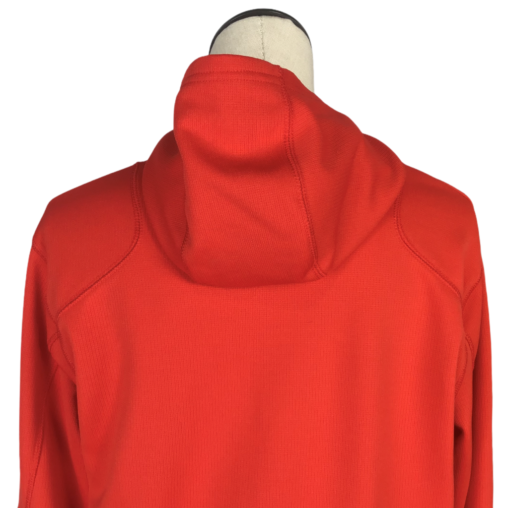 Avalanche Mens L Half Zip Thermal Base Pullover Red Gray Thumb Holes Pockets