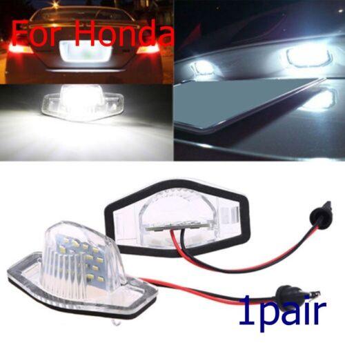 2xLED Number License Plate Light Rear Tail Lamp For Honda Jazz//Odyssey//CR-V//FR-V