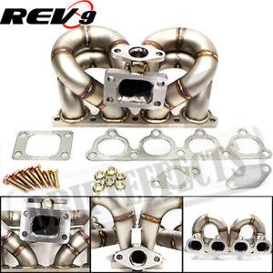 Honda Civic//Crx//Del Sol D15//D16 T3 Turbo Ram Horn Stainless Exhaust Manifold
