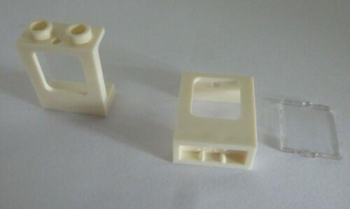 2 x LEGO® 60032//35315 City,Schiff,Flugzeug,Haus,Fenster in weiss 1x2x2 Neuware