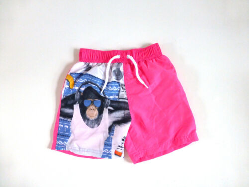 Chimp Design Neon Pink Ages 2-3,3-4,4-5 /& 5-6 years Boy/'s Swim Shorts NEW