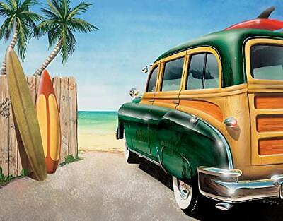 Vintage Woody Tin Sign Metal Poster Beach Surf Auto Garage Art Bar Decor 1147 Ebay
