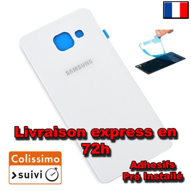 CACHE COQUE  VITRE ARRIERE BLANC POUR Samsung Galaxy A5 2016 A510F Avec Logo