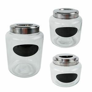 Glasdosen-mit-Metalldeckel-Etikett-zum-Beschriften-verschiedene-Groessen-Kreide