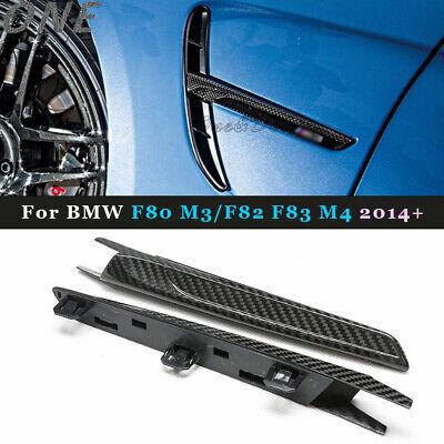 Carbon Fiber Fender Light Trim Side Grill for BMW F80 M3 F82 F83 M4 2015 2016
