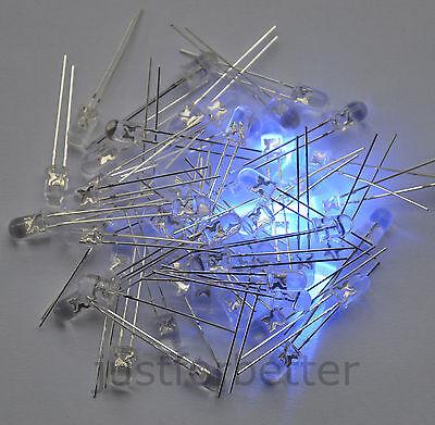 100pcs 5mm Round Top Ultra Violet LED UV Light 3000MCD Purple Lamp