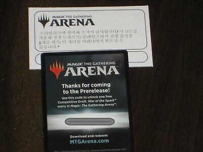 MTG ARENA War Of the Spark Pre-release Draft code X 2 Email Code Only  |  eBay
