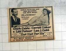 1959 Clark Gable, Carole Baker, But Not For Me, South London