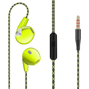 3.5mm In-Ear Earphones Bass Stereo Headphones Headset Earbuds With Remote Mic