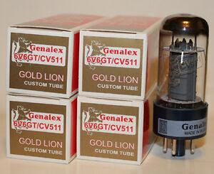 Matched-Quad-Genalex-Gold-Lion-6V6GT-CV511-6V6-tubes-BRAND-NEW