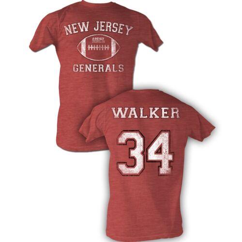 USFL New Jersey Generals T-shirt Herschel Walker Adult Red Heather Tee