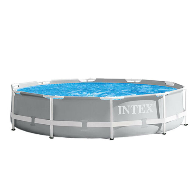 Open Box Intex 10 Foot x 30 Inches Above Ground Pool with 330 GPH Filter Pump