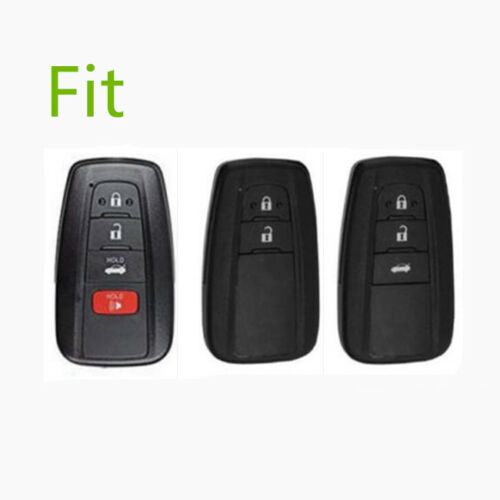 Fit For Toyota Camry 2018 2019 Smart Key Silver Aluminum Case Cover Holder