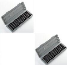 AJ/RR 12Pcs HDC 1/2-Inch Drive Deep Impact Socket Set with Metal Case