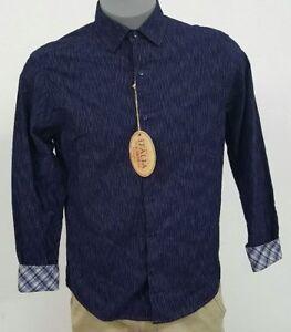 Katoen Nwt Corduroy Voorraad Shirt Heren L s S Vintage Gereserveerde Italia Blauw M 110 T4XWwxEIvq