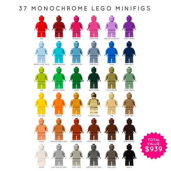 Minifiguras Lego: 37 X monocromo (monofigs)