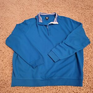 FootJoy FJ Men's Blue Golf Soft Pullover XL