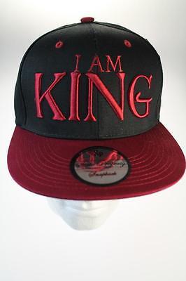 State Property I Am King Black/Wine Snapback Baseball Hat/Cap