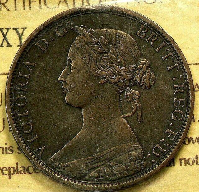 1862 Nova Scotia 1862 Cent ICCS VF 30 #9535
