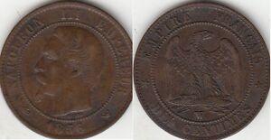 Monnaies-10-Centimes-Napoleon-III-tete-nue-1856-W