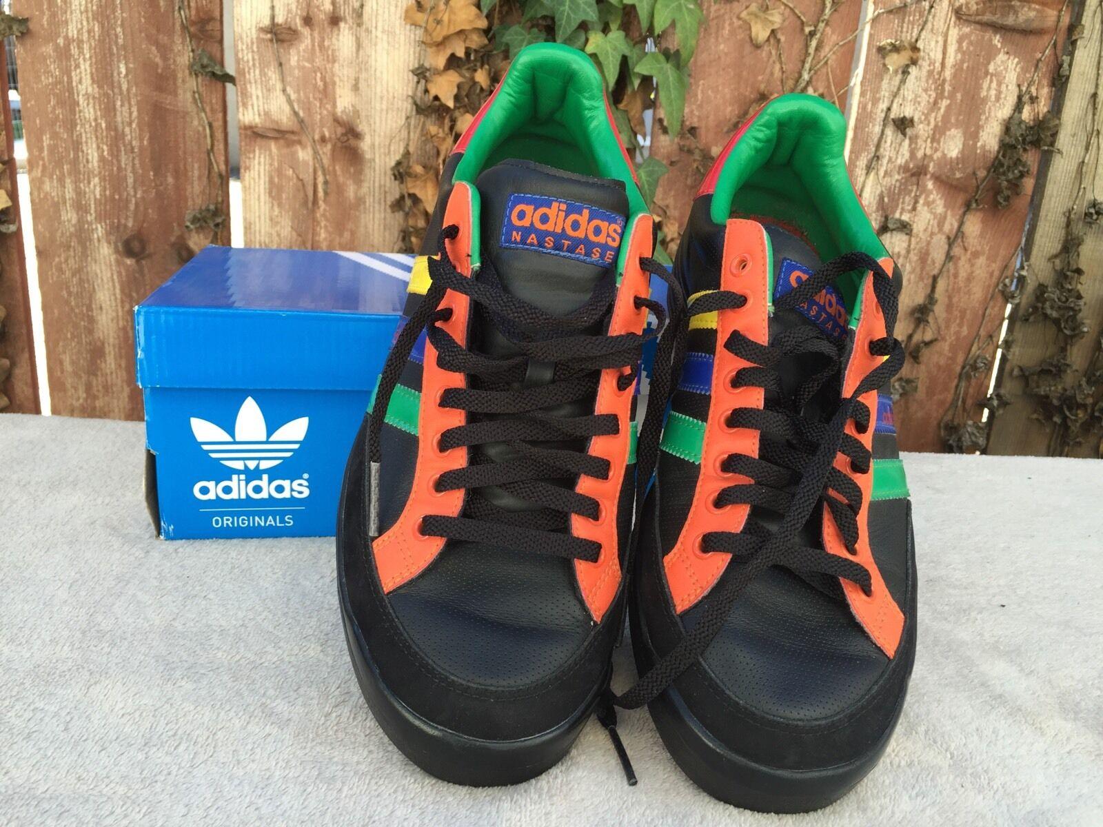 neue adidas schwarz originals männer nastase leder schwarz adidas - farbe streifen schuhgröße 9,5 e46cc8