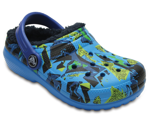 crocs Kids Classic Graphic K Clog  multi color blue