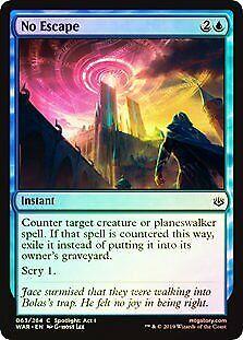 No Escape FOIL War of the Spark NM-M Blue Common MAGIC GATHERING CARD ABUGames