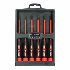Electricians Vde Insulated Precision Screwdriver Pozi Phillips And Slotted 6pc