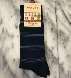 BOCONI-NASHVILLE-Men-039-s-Socks-Shoe-Sizes-9-12-Blue-Stripe-15-NWT