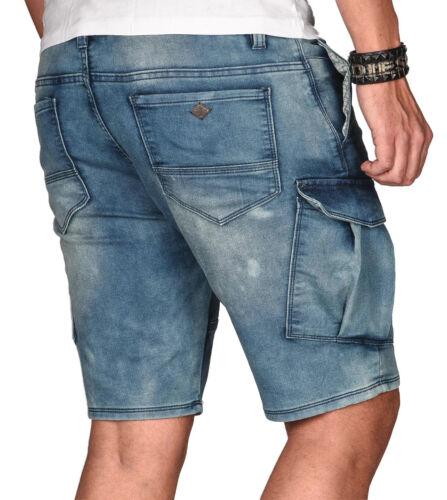 Urban Surface Herren Sweat Jeans Short kurze Hose Bermuda Sommer Sweathose Slim