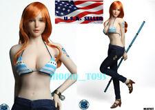 1//6 POWER GIRL PHICEN Super Flexible Seamless Figure Head Doll Full Set ❶USA❶
