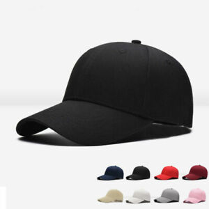 Mens Womens Plain Cap Style Cotton Adjustable Baseball Cap Blank Solid Hat