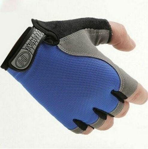 MTB Half Mesh Bike Glove Bicycle Finger Gloves Anti Slip Cycling Breathable