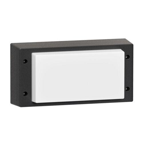 noir ip54 LED Lampe murale vela pour extérieur 10w rectangulaire blanc chaud 510lm
