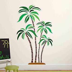 Green-and-Brown-Palm-Wall-Decal-Wall-Sticker-Home-Decor-Wall-Mural