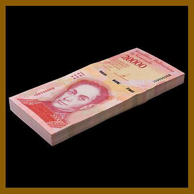Lot 10 Pcs UNC Venezuela Banknotes 20000 Bolívares 2017 P-99b