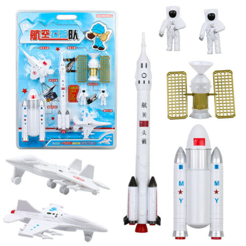 7Pcs Simulate Space Rocket Modeling Figures Toys Set for Kids Gift 2020 New