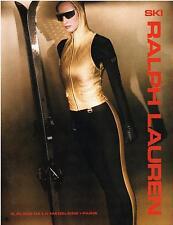 ▬► PUBLICITE ADVERTISING AD Ski RALPH LAUREN 1992