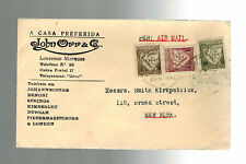 1934 Lorenzo Marques Mozambique commercial cover to USA John Orr & Company