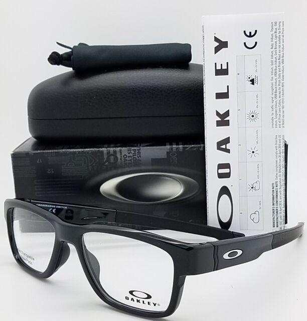 02087a7af1 NEW Oakley Crossrage Switch RX Prescription Frame Black OX8132-0152 GENUINE  8132