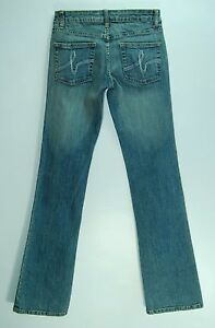 Stitched-Pocket-LOW-Flare-Leg-BEBE-Stretch-SOPHIE-Jeans-25-0-LONG-34-Inseam
