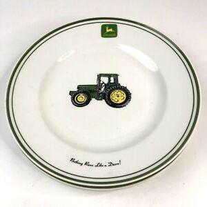 "Gibson John Deere Tractor Dinner Plates 11 1//4 /"""