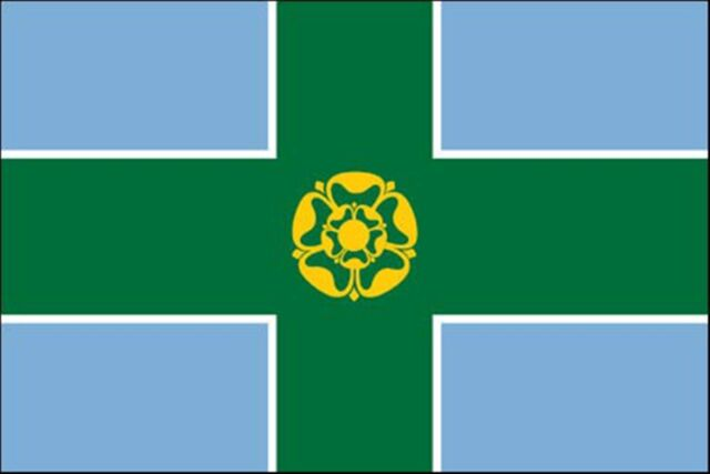 Derbyshire Sleeved Flag suitable for Boats 45cm x 30cm