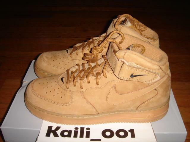 Nike Air Force 1 MID '07 PRM QS Flax Wheat Premium Quickstrike B